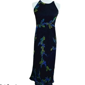 Maggy London floral dress full length dress size 4